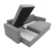 Aleksander L alakú kanapé szürke / világos szürke