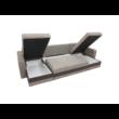 Aleksander U alakú kanapé sötét szürke