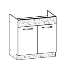"""""""Modern"""" 80 cm mosogatós szekrény sonoma"""