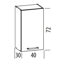 """""""Modern"""" 40cm felső szekrény"""