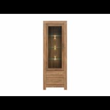 GERMAN vitrin 1 üvegezett ajtóval és 2 fiókkal