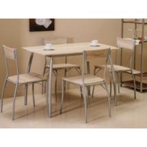 Signal Modus 1+4 étkező garnitúra (asztal+szék) alu sonoma tölgy