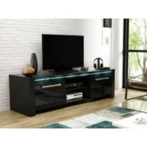 Manhattan TV szekrény Fényes fekete / fekete