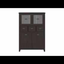 Germes/Cannet vitrin 2 üvegezett és 2 normál ajtóval, 3 fiókkal