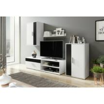 BERNI szekrénysor fekete / fehér