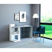 PACO 1 íróasztal Beton / matt fehér