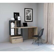 PACO 2 íróasztal antracit / artisan tölgy