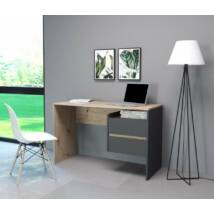 PACO 3 íróasztal antracit / artisan tölgy