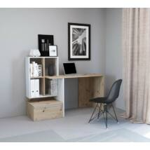 PACO 2 íróasztal artisan tölgy / fehér