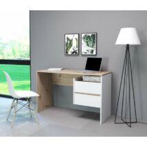 PACO 3 íróasztal artisan tölgy / fehér