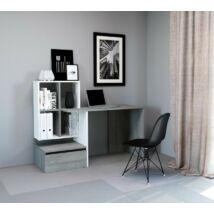 PACO 2 íróasztal Beton / matt fehér