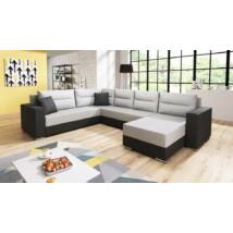 GERD U alakú kanapé fekete / világos szürke