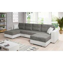 HERON U alakú kanapé fehér / szürke