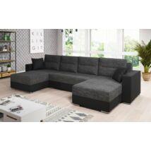 HERON U alakú kanapé fekete / szürke