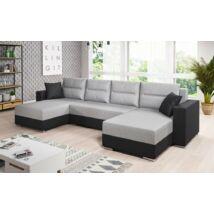 HERON U alakú kanapé fekete / vlágos szürke