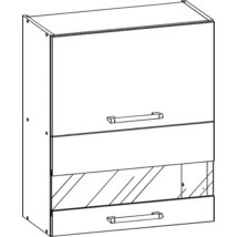 Rio 60cm üveges felső szekrény Matt sanremo tölgy/fehér