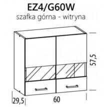 JUNO  ELENA felső vitrines szekrény 60cm