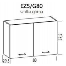 JUNO  ELENA felső szekrény 80cm