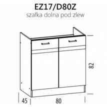 JUNO  ELENA mosogató szekrény 80cm