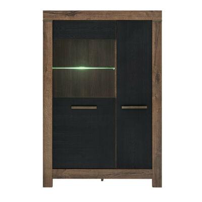 Balin vitrin 2 ajtóval, beépített világítással, fekete