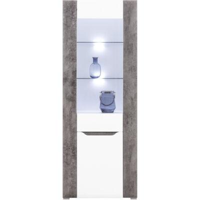 BRANDO vitrin 1 üvegezett és 1 normál ajtóval