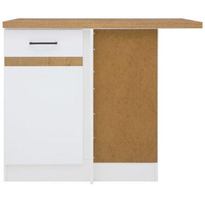 JUNO WHITE sarok szekrény 100cm jobbos