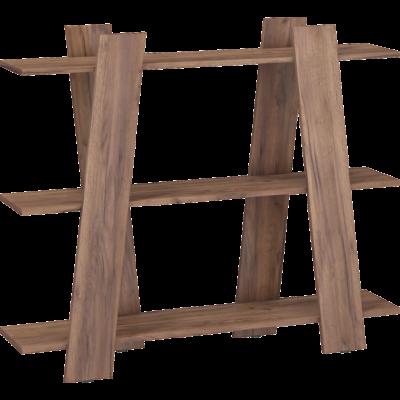 VIA könyvespolc 140 cm, craft tobaco