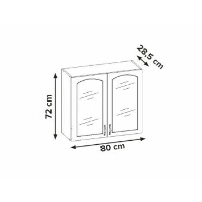 Aliso 2 ajtós üveges szekrény