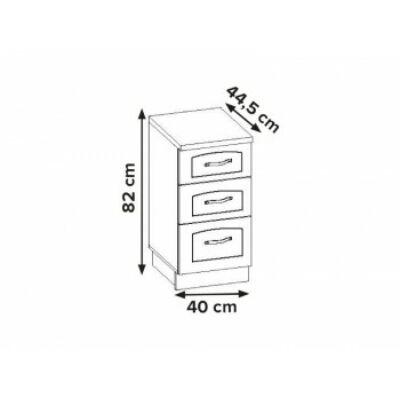 Aliso 3 fiókos szekrény