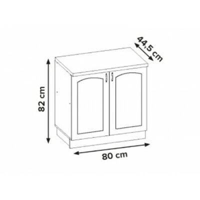 Aliso 80cm alsó kétajtós szekrény