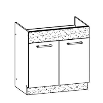 """""""Modern"""" 80cm mosogatós szekrény Sonoma"""