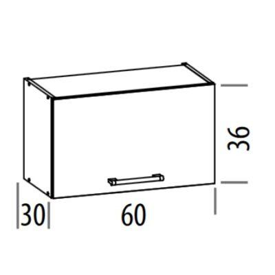 """""""Modern"""" 60cm elszívós szekrény Sonoma"""