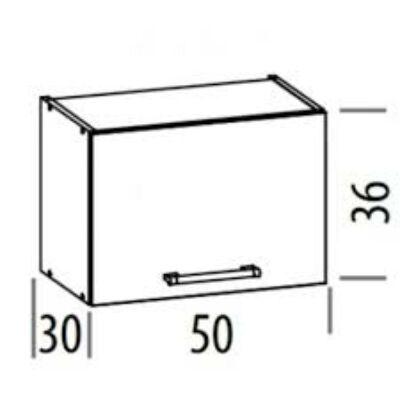"""""""Modern"""" 50cm elszívós szekrény  Sonoma"""