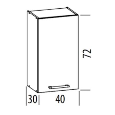 """""""Modern"""" 40cm felső szekrény Sonoma"""