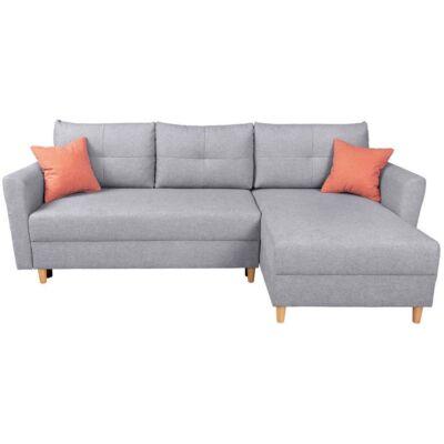 ARADENA Sarok kanapé szürke