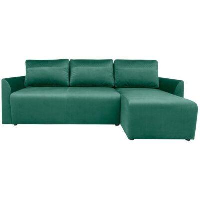 ARBON Sarok kanapé zöld