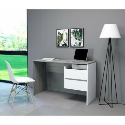 PACO 3 íróasztal Beton / matt fehér