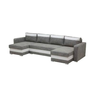 Aleksander U alakú kanapé világos szürke