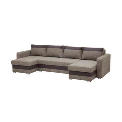 Aleksander U alakú kanapé barna
