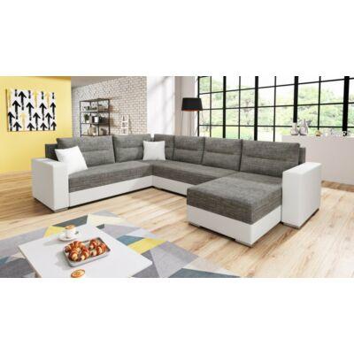 GERD U alakú kanapé fehér / világos szürke