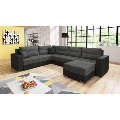GERD U alakú kanapé fekete / sötét szürke