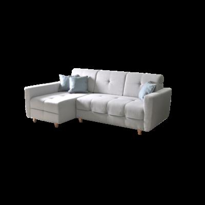 Grey L alakú kanapé szürke / kék