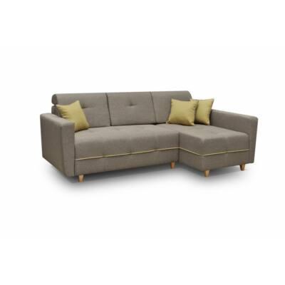 Grey L alakú kanapé barna / sárga