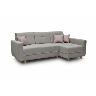 Grey L alakú kanapé szürke / mályva