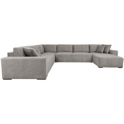 VOUGE  U alakú kanapé, szürke