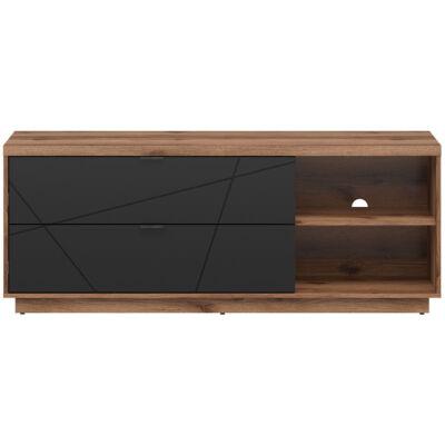 FORN TV szekrény  Fekete – Delano tölgy