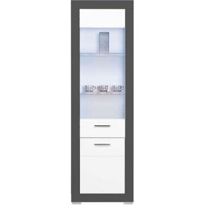 GRAY vitrin 1 üvegezett és 1 normál ajtóval