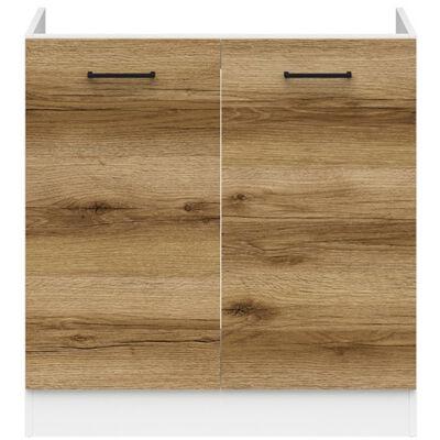 JUNONA LINE mosogatós szekrény 80 cm világos delano tölgy
