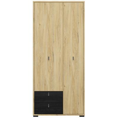 Rodes ruhásszekrény 2 ajtóval és 2 fiókkal
