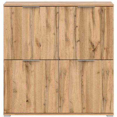 Zele komód wotan tölgy 4 ajtóval